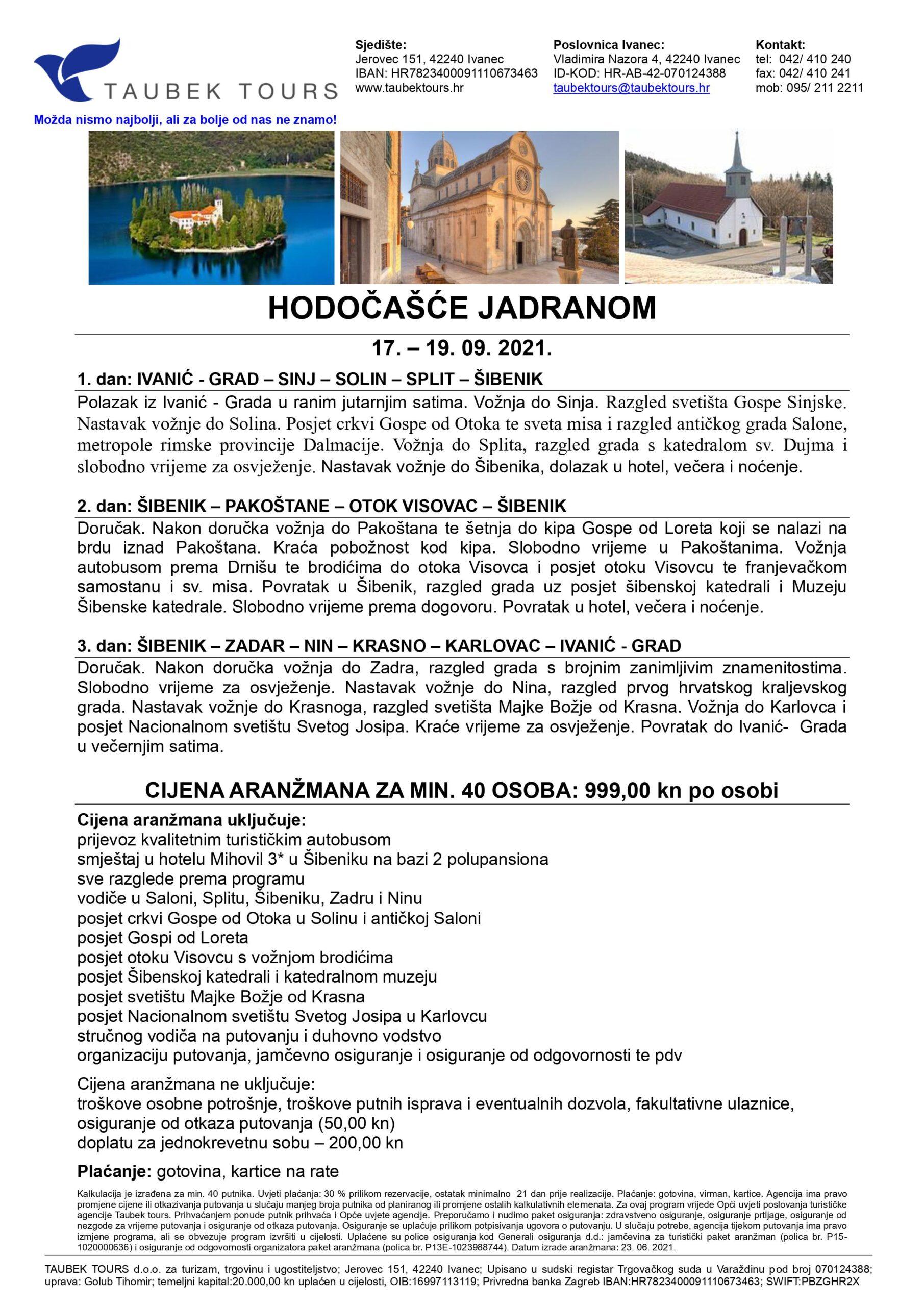Hodočašće Jadranom 2021.